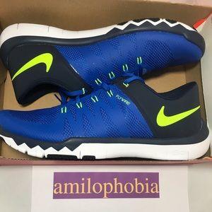 New Men's Nike Free Trainer 5.0 V6 Size 11 Blue